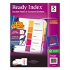 Ready Index Customizable Table of Contents Multicolor Dividers, 5-Tab, Letter