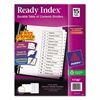 Avery Ready Index Customizable Table of Contents Black & White Dividers, 15-Tab, Ltr