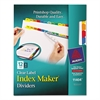 Avery Index Maker Print & Apply Clear Label Dividers w/Color Tabs, 12-Tab, Letter