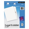 -Style Legal Exhibit Side Tab Divider, Title: 1-25, Letter, White