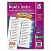 Ready Index Customizable Table of Contents Double Column Dividers, 32-Tab, Ltr