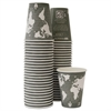 World Art Renewable/Compostable Hot Cups, 12 oz, Gray, 50/Pack,10 Pack/Carton