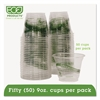 Eco-Products GreenStripe Renewable & Compostable Cold Cups Convenience Pack- 9oz., 50/PK