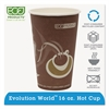 Eco-Products Evolution World 24% Recycled Content Hot Cups - 16oz., 50/PK, 20 PK/CT