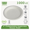 "Eco-Products Renewable & Compostable Sugarcane Plates Convenience Pack, 6"", 50/PK, 20 PK/CT"