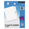 -Style Legal Exhibit Side Tab Divider, Title: 26-50, Letter, White