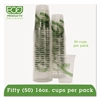 Eco-Products GreenStripe Renewable/Compostable Cold Cups Convenience Pack, 16oz, 50/PK