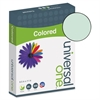 Universal Colored Paper, 20lb, 8-1/2 x 11, Green, 500 Sheets/Ream