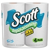 Scott Rapid Dissolving Tissue, 1-Ply, 264 Sheets, 4 Rolls/Pack, 12 Packs/Carton