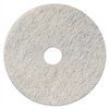 "Niagara Natural White Burnishing Pad, 27"" Diameter, White, 5/Carton"