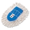 Rubbermaid Commercial Trapper Wedge Dust Mop Head, White, Cut-End, Cotton
