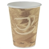 SOLO Cup Company Mistique Polycoated Hot Paper Cup, 12 oz., Printed, Brown, 50/Bag