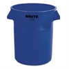 Rubbermaid Commercial Round Brute Container, Plastic, 20 gal, Blue
