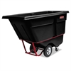 Rotomolded Tilt Truck, Rectangular, Plastic, 2100-lb Cap., Black