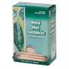 """Royal Mint Cello-Wrapped Wood Toothpicks, 2 3/4"""", Natural, 1000/Box, 15 Boxes/Carton"""