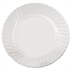WNA Classicware Plates, Plastic, 6 in, Clear, 18/Bag, 10 Bag/Carton