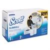 Slimroll Hard Roll Hand Towel System, w/2 Rolls, 12 x 7 x 12.5, White