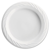 Plastic Plates, 6 Inches, White, Round, Lightweight, 10/Pack