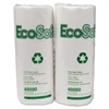 EcoSoft Household Roll Towels, 11 x 9, White, 100/Roll, 30 Rolls/Carton