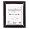 NuDell Executive Document Frame, Plastic, 8-1/2 x 11, Black/Mahogany