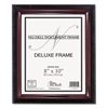 NuDell Executive Document Frame, Plastic, 8 x 10, Black/Mahogany