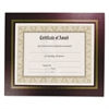 NuDell Leatherette Document Frame, 8-1/2 x 11, Burgundy, Pack of Two