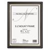 EZ Mount Document Frame w/Trim Accent, Plastic, 8-1/2 x 11, Black/Gold, 18/CT