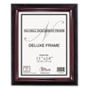 NuDell Executive Document Frame, Plastic, 11 x 14, Black/Mahogany