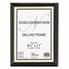 Value Pack Deluxe Wood Document Frames, 8.5 x 11, Black w/Gold Stripe, 18/Carton