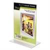 NuDell Clear Plastic Sign Holder, Stand-Up, 5 x 7
