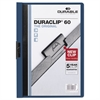 Durable Vinyl DuraClip Report Cover, Letter, Holds 60 Pages, Clear/Dark Blue