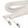 Softalk Coiled Phone Cord, Plug/Plug, 25 ft., Ivory