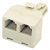 Softalk Telephone Duplex Jack, Ivory