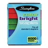 Swingline Color Bright Staples, Assorted Colors, Blue, Red, Green, 6000/Pack