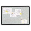 Quartet Contour Granite Gray Tack Board, 48 x 36, Black Frame
