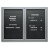 Quartet Enclosed Magnetic Directory, 48 x 36, Black Surface, Graphite Aluminum Frame