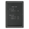 Quartet Enclosed Magnetic Directory, 24 x 36, Black Surface, Graphite Aluminum Frame