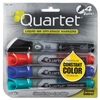 Quartet EnduraGlide Dry Erase Marker, Bullet Tip, Assorted Colors, 4/Set