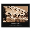 """Teamwork"" Framed Sepia-Tone Motivational Print, 30 x 24"