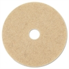 3M Ultra High-Speed Natural Blend Floor Burnishing Pads 3500, 27-Inch, Natural Tan