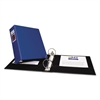 """Economy Non-View Binder with Round Rings, 11 x 8 1/2, 3"""" Capacity, Blue"""