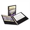 "Economy View Binder w/Round Rings, 11 x 8 1/2, 1/2"" Cap, Black"