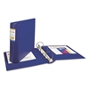"Avery Heavy-Duty Binder with Round Rings, 11 x 8 1/2, 3"" Capacity, Blue"