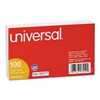 Universal Ruled Index Cards, 3 x 5, White, 100/Pack