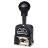 Bates Royall Economy Numbering Machine, Six Wheels, Pre-Inked/Re-Inkable, Black