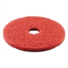 Boardwalk Standard 14-Inch Diameter Buffing Floor Pads, Red