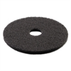 Boardwalk Standard 13-Inch Diameter Stripping Floor Pads, Black