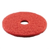 "Standard Buffing Floor Pads, 15"" Diameter, Red, 5/Carton"