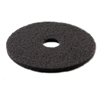 "Standard Stripping Floor Pads, 18"" Diameter, Black, 5/Carton"