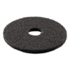"Standard Stripping Floor Pads, 14"" Diameter, Black, 5/Carton"